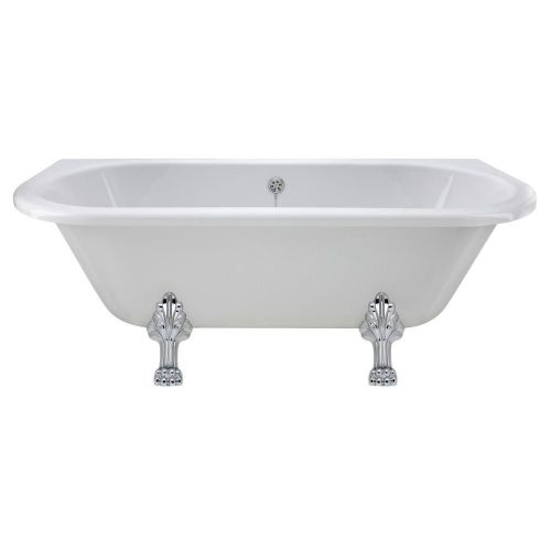 Monument 1690mm x 745mm Freestanding Double Ended Bath & Claw Leg Set